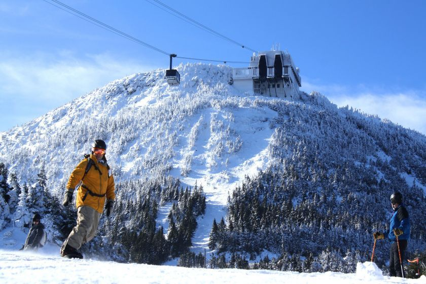 This season skiers and riders will enjoy a new dining option in Jay's summit tram house. Photo Courtesy of Jay Peak.