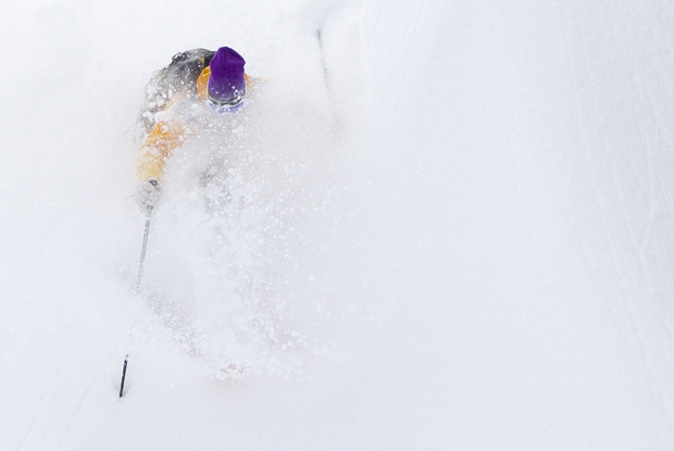 A rare deep powder day last season on the East Coast. - ©Ember Photography