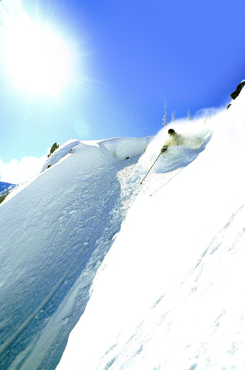 A sunny powder day at Mission Ridge. Photo courtesy of Mission Ridge.