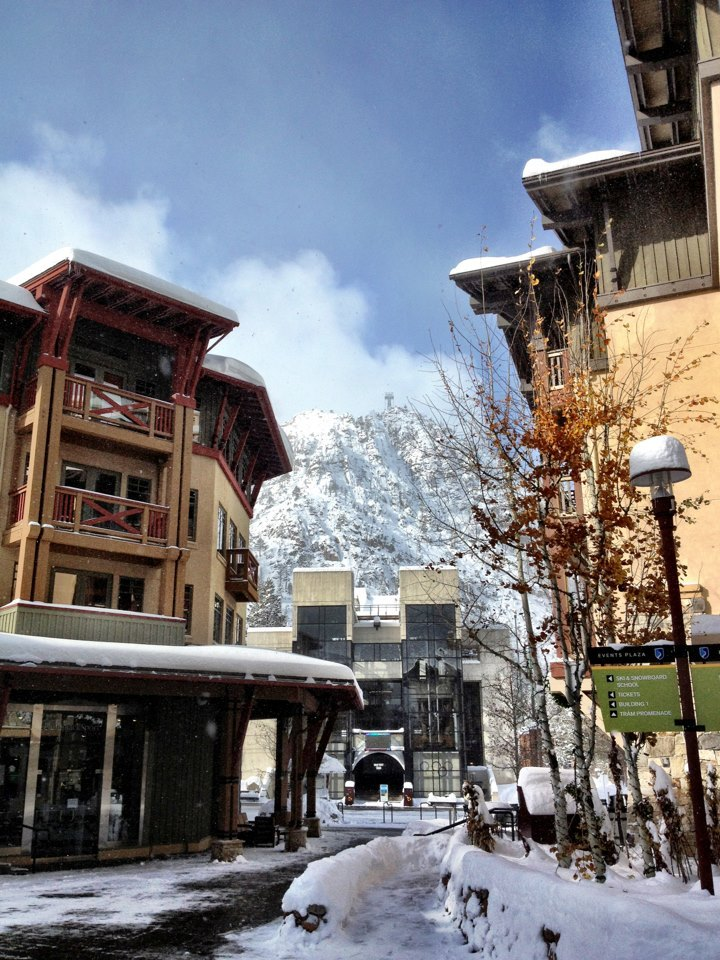 Snow on the upper mountain at Squaw Valley thanks to Winter Storm Brutus. Photo: Squaw Valley/Facebook