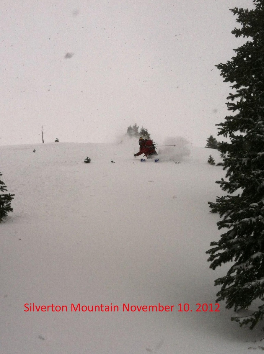 Early Season turns at Silverton Mountain thanks to Winter Storm Brutus. Photo: Silverton/Facebook/Doug Krause