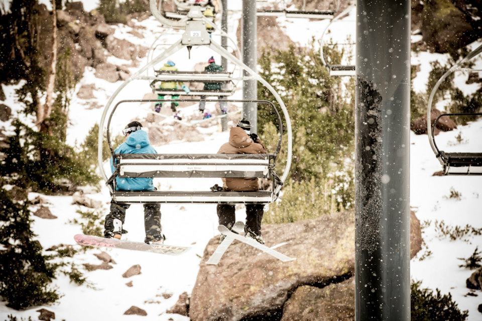 Snow from Winter Storm Brutus at Mammoth Mountain's opening weekend. Photo: Mammoth Mountain/Facebook