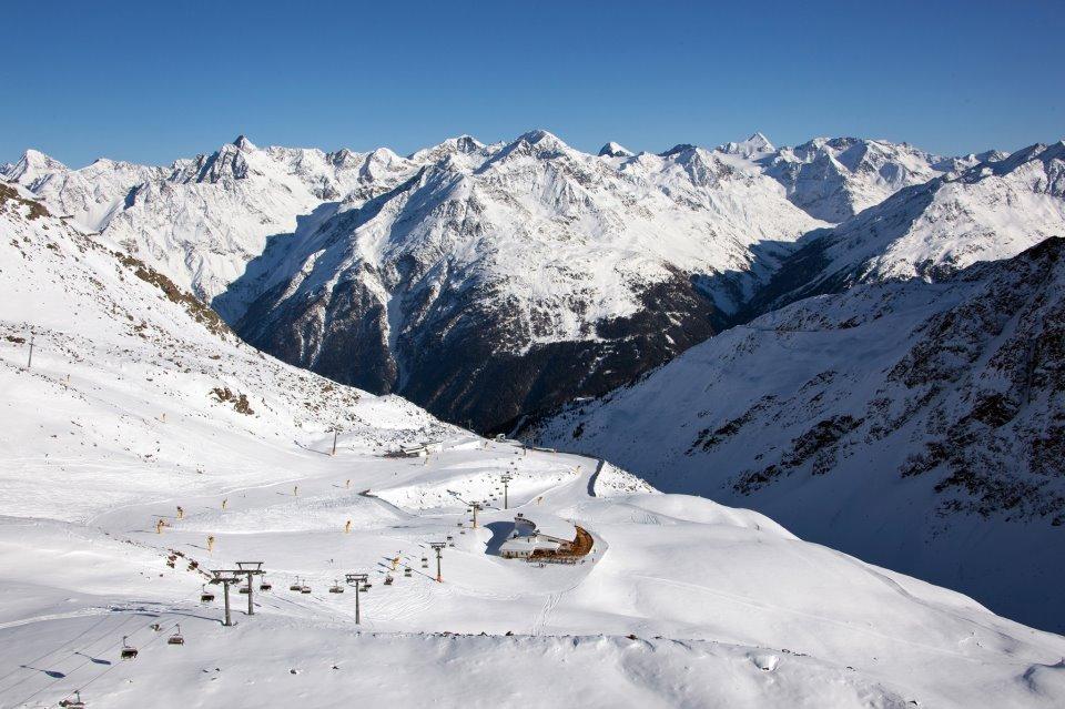 Snowy slopes of Solden. Photo taken Oct. 31, 2012.