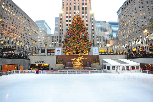 Rockefeller's ice rink and phenomenal Christmas tree