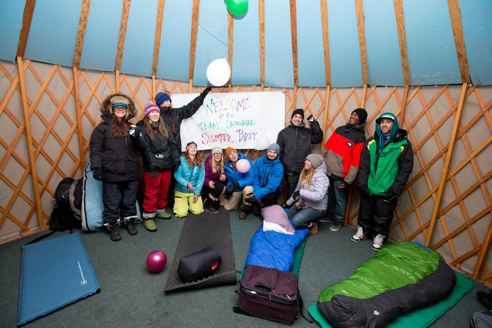Snowbird's first annual Slumber Party brought out many of the resort's big mountain skiers and snowboarders for a night of slopeside celebrations