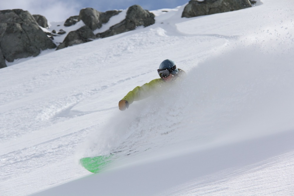 Deep powder with Whistler Heli-Skiing