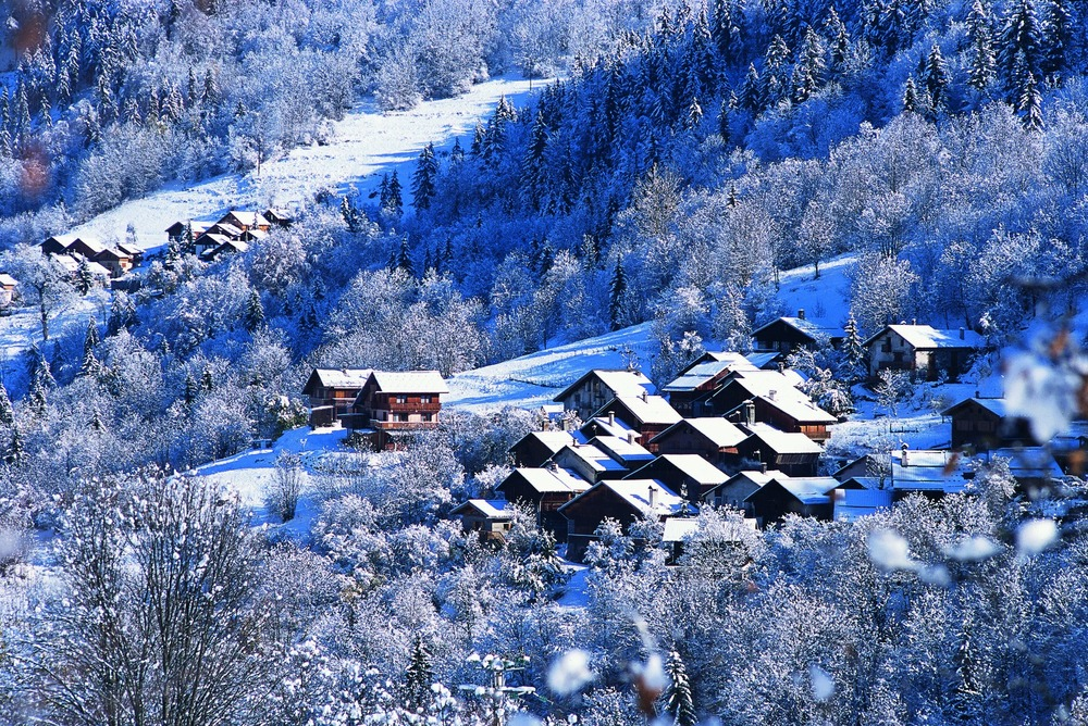 Meribel village, France. 