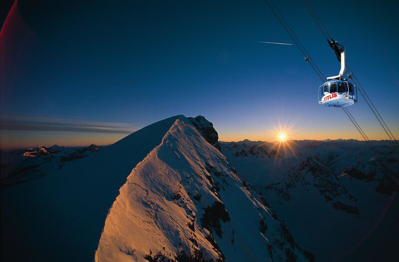 Winter $1$7$ Berge Sonnenaufgang Sonne Panorama Titlis Rotair Mountain Sunrise Sun Panorama Titlis Rotair