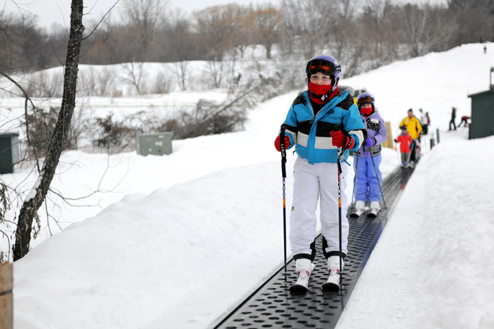 Skiers at Grand Geneva in Wisconsin.