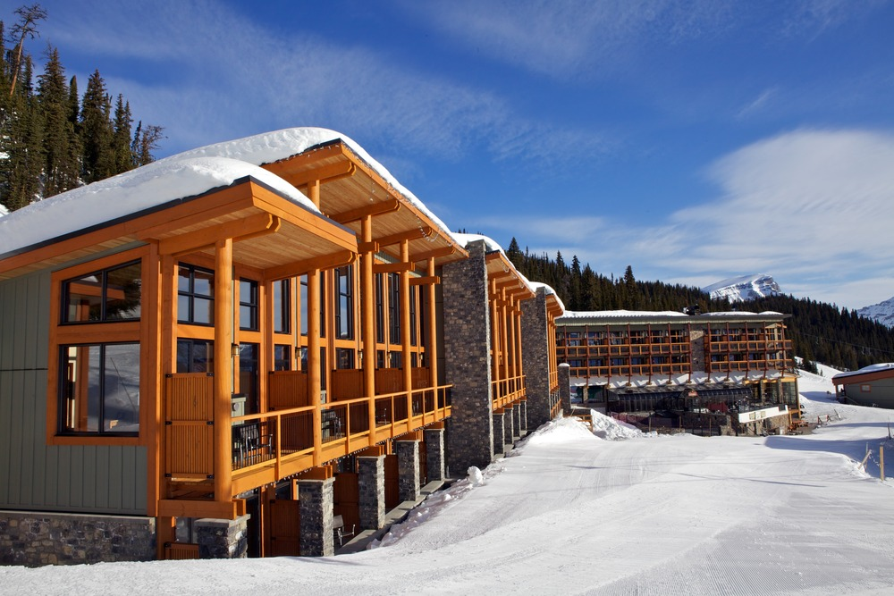 Sunshine Village Lodge features an eco-friendly footprint and huge windows.. Photo by Sean Hannah, courtesy of Sunshine Village.