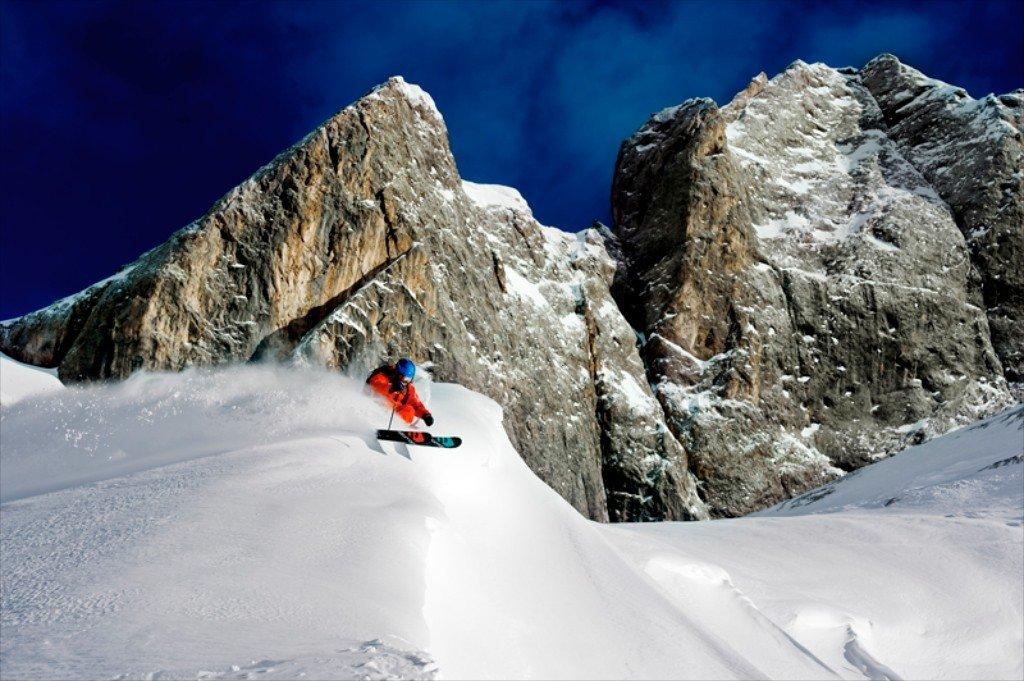 Powder skiing among the craggy peaks of the Dolomites - ©Matthias Fredriksson