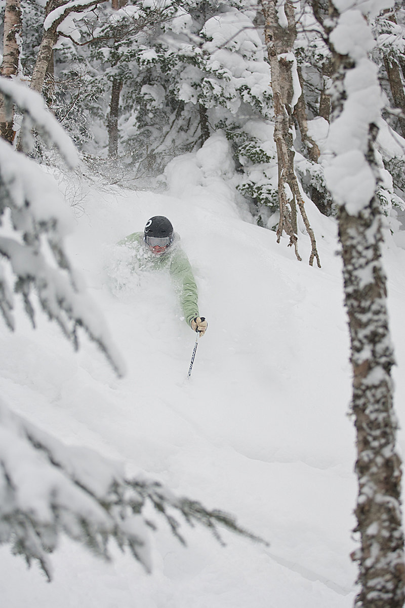 "Ben Kubas getting after it ""Beyond Beaver Pond"" Jay Peak, Vermont."