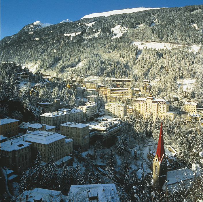 Bad Gastein village in the snow