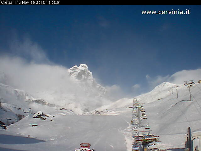 Cervinia webcam. Nov. 29, 2012