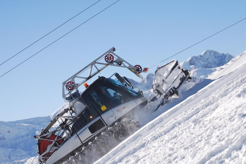 Snowmachines in action in Artesina-Mondol Ski. Dec. 2, 2012