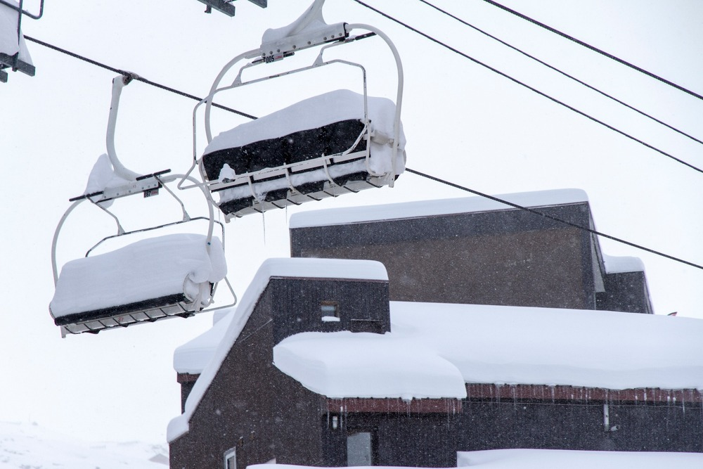 Snow is piling up in Val Thorens. Dec. 4, 2012.