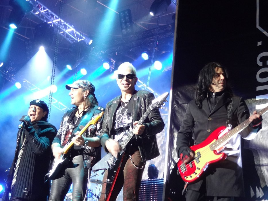 Scorpions on stage at Top of the Mountain concert, Ischgl.