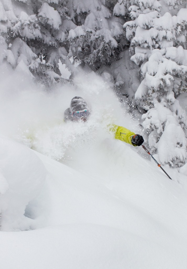 Front Range resident, Andy Wendberg enjoy's powder this past Saturday.  - ©Jeff Cricco