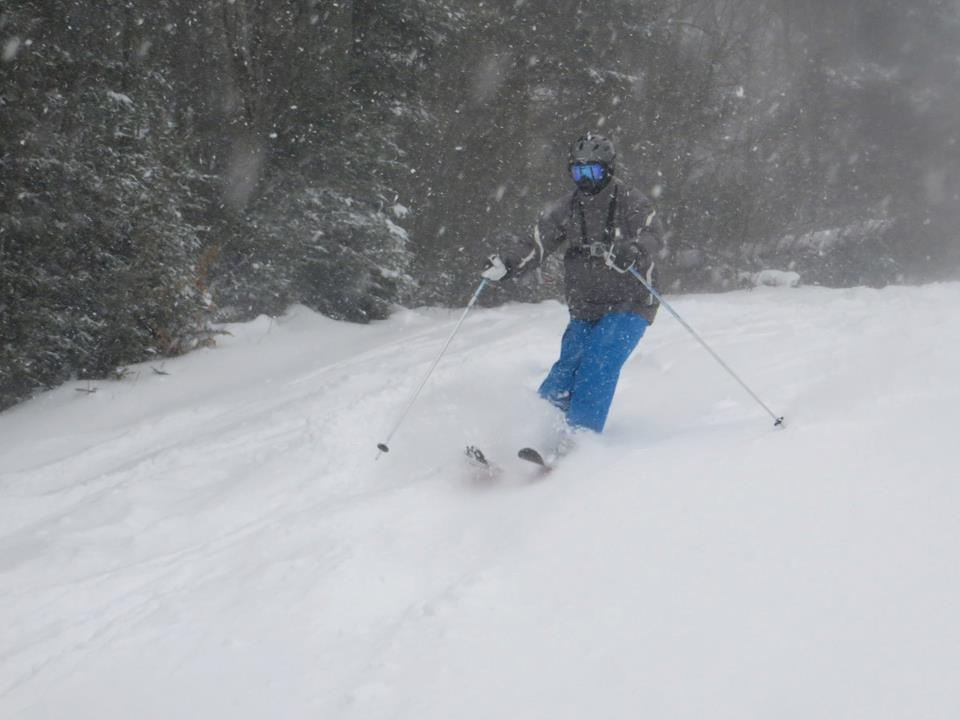 Still snowing at Bretton Woods. 12/27/2012