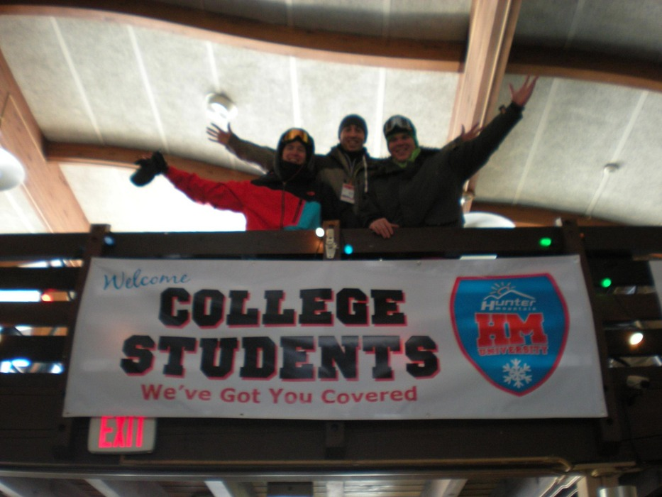 College students love anything cheap, especially lift tickets. Photo Courtesy of Hunter Mountain.
