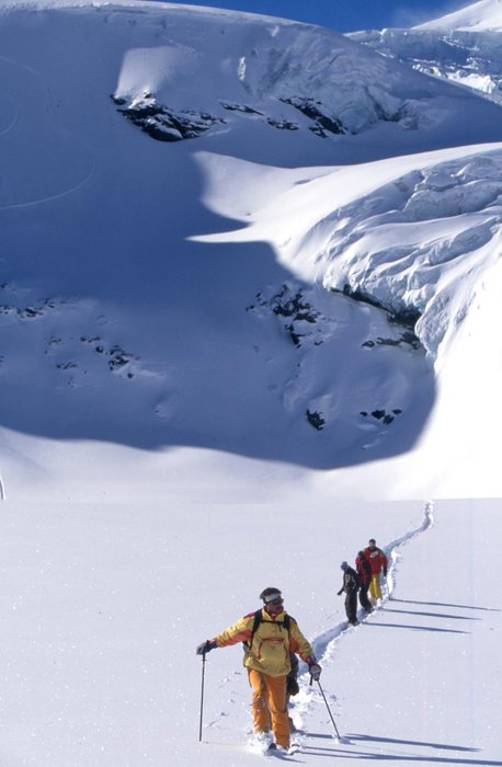 Guided ski tours are available at Saas Fee.