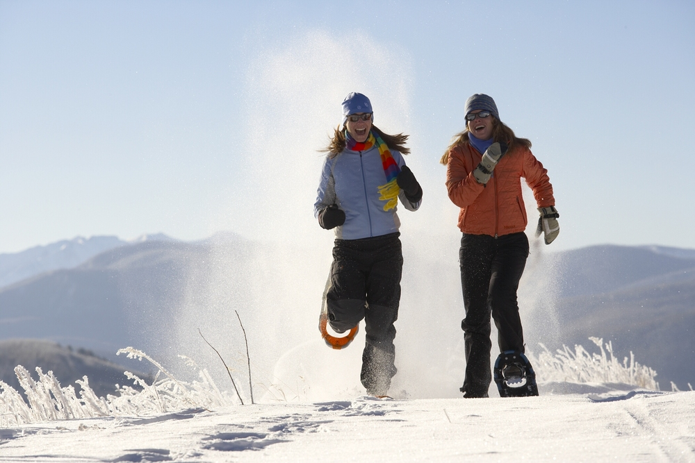 Snowshoers enjoy the slopes of Sunlight. Photo courtesy Sunlight Mountain Resort.