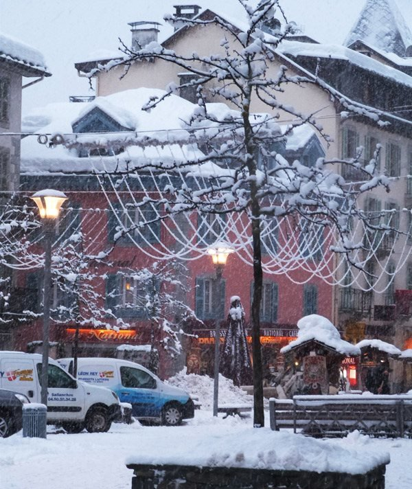 20cm in Chamonix centre. Jan. 12, 2013