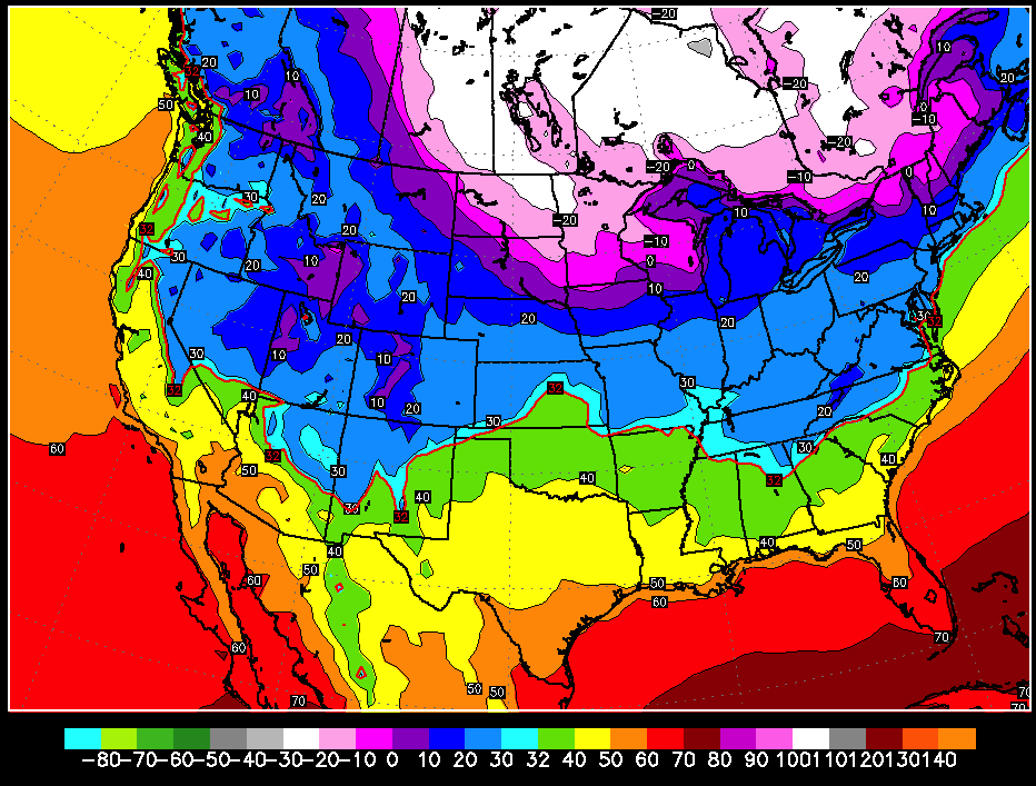 Much colder air will make its way into the region over the coming week, especially at the end of the weekend. - ©OpenSnow.com