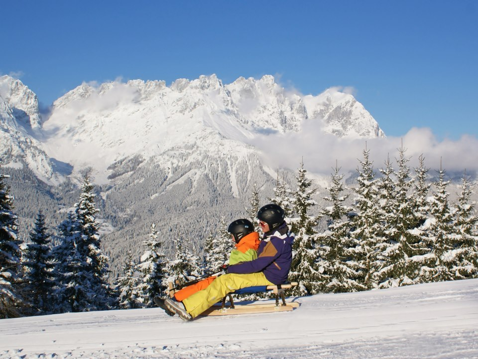 sledding in SkiWorld Wilder Kaiser Brixental - ©SkiWelt Wilder Kaiser-Brixental