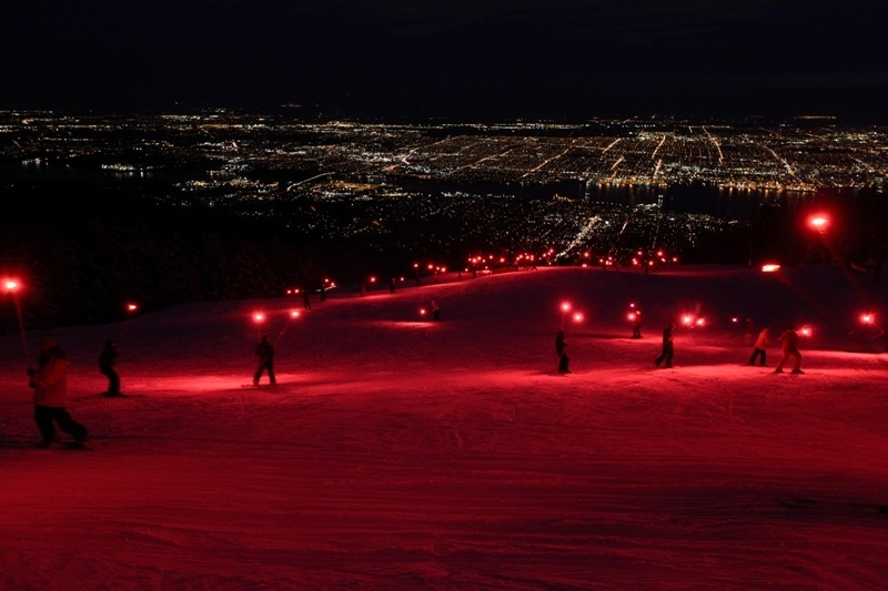 Torchlight parade at Grouse. Photo courtesy of Grouse Mountain.