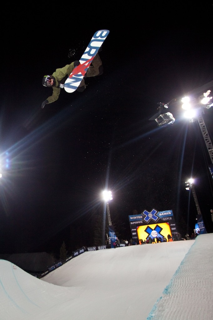 Christian Haller in men's snowboard superpipe finals