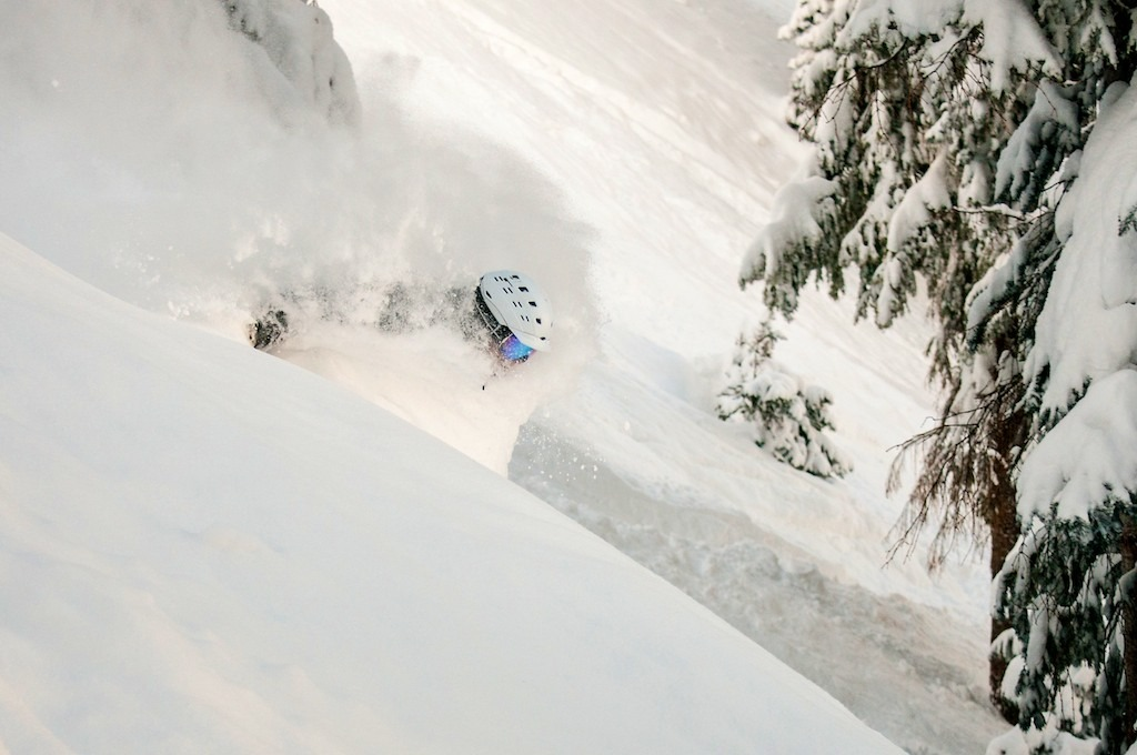 Eric Rasmussen gets deep at Wolf Creek. - ©Josh Cooley