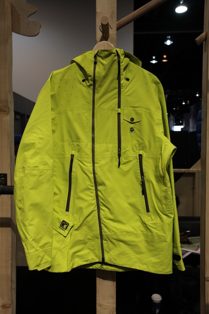 The Retallack jacket from Orage features GORE-TEX® Pro as well as easily accessible pockets, including ones for radios. The jacket is used by guides in Retallack, BC.