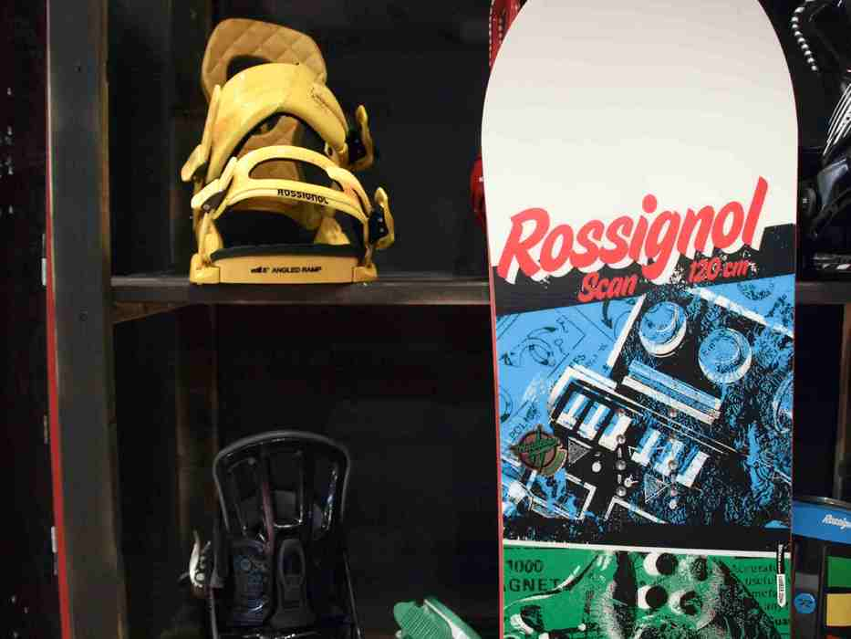 Snowboard at Rossignol stand at ISPO Munich 2013