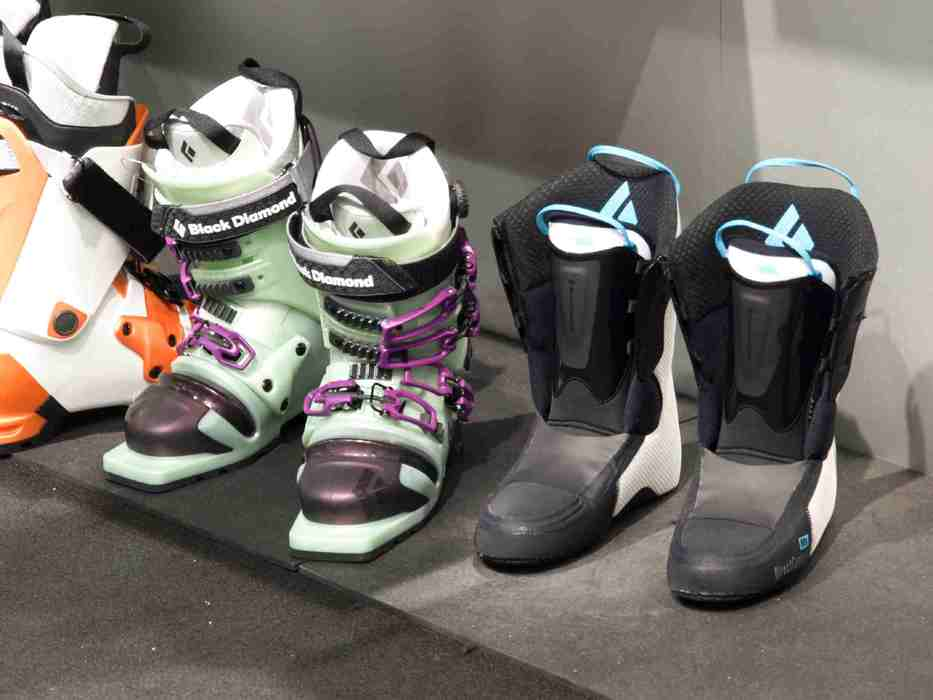 ski boots at Black Diamond stand at ISPO Munich 2013