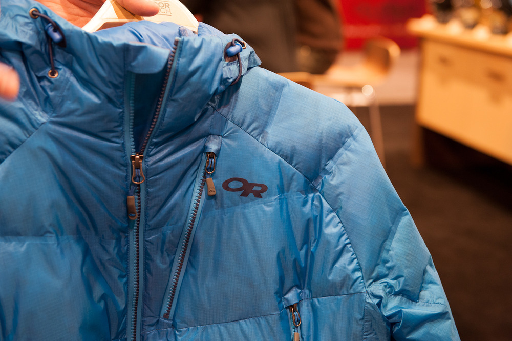 The Outdoor Research Floodlight Jacket is made with waterproof 800 fill down. It has lightweight insulation and outerwear in one layer with an added waterproof shell.