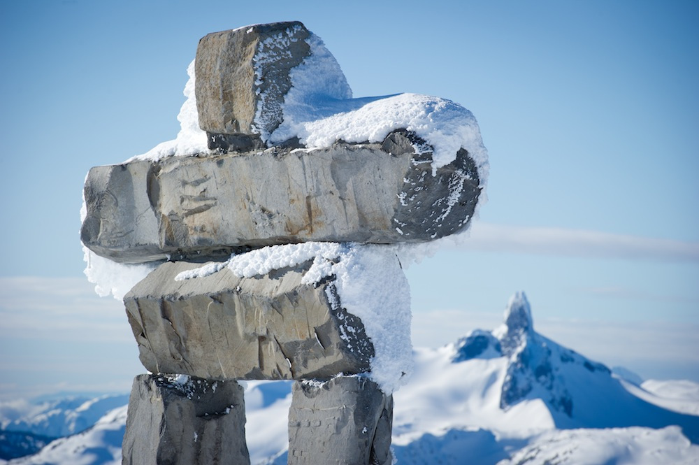 Whistler Blackcomb: Inukshuk.   Photo by Mike Crane, courtesy of Whistler Tourism.