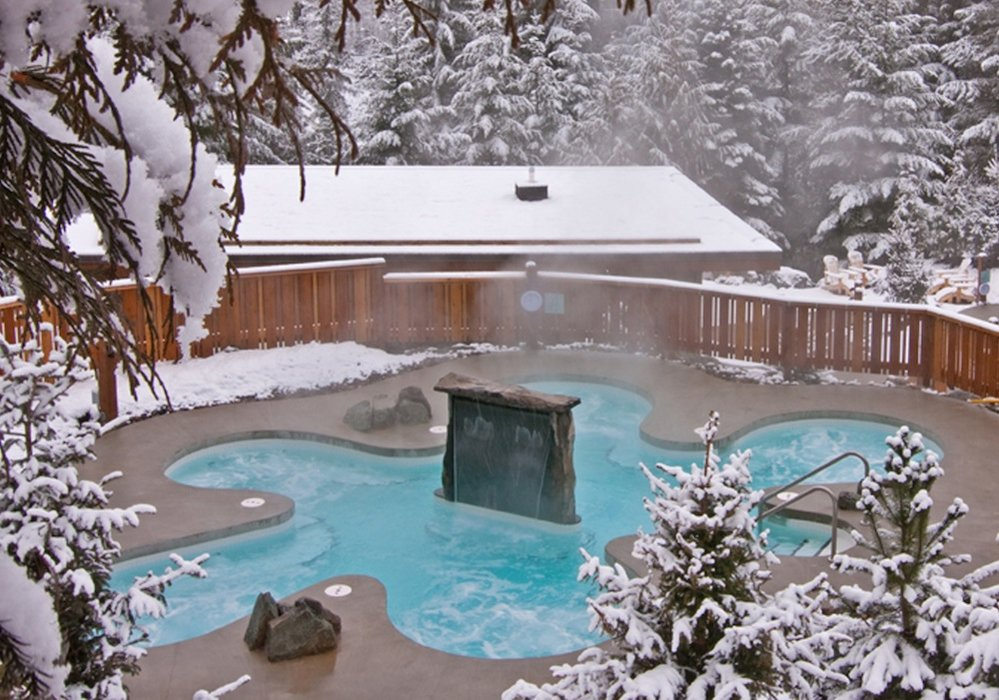 One of the hot pools at the Scandianve Spa in Whistler. Photo courtesy of Scandinave Spa.