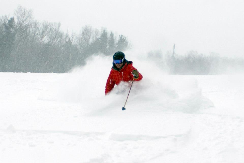 Deep powder at Cannon Mountain from Winter Storm Nemo.