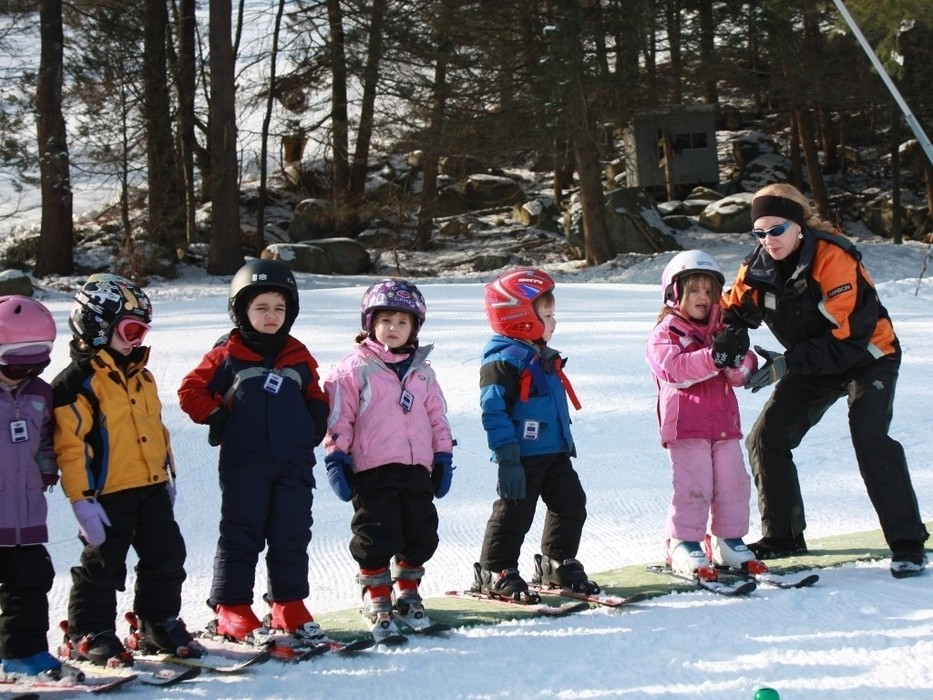 Ski school's in session during February vacation. Photo Courtesy of Nashoba Valley.
