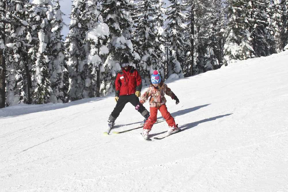 Kids ski lessons at Whitefish Mountain Resort. Photo courtesy of Whitefish Mountain Resort.