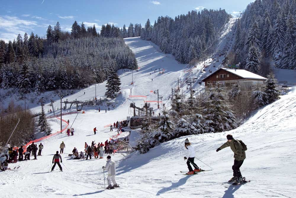 Skiing at Gerardmer - ©Station de ski de Gerardmer