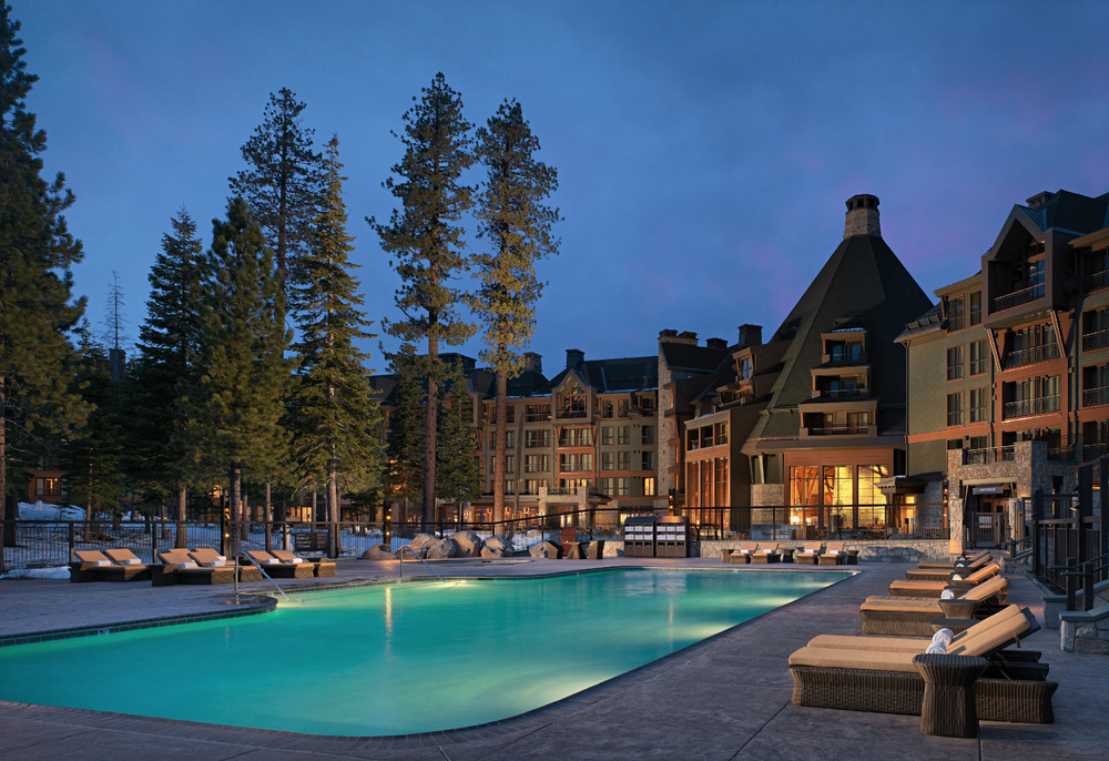 The pool at the Constellation Residences at Northstar, Lake Tahoe, is a favorite attraction with kids and their families.