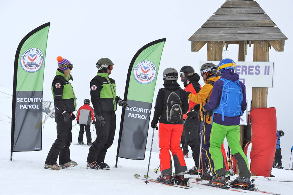 Security Patrols on Meribel ski area