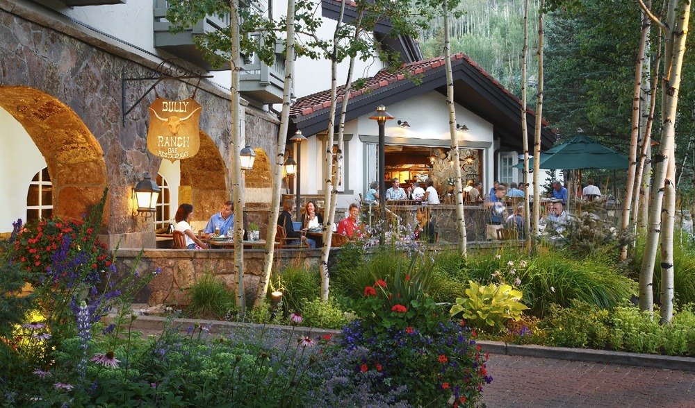 Located in the Sonnenalp Spa and Hotel, The Bully Ranch is a perfect spot to grab a simple burger or perfectly cooked steak.