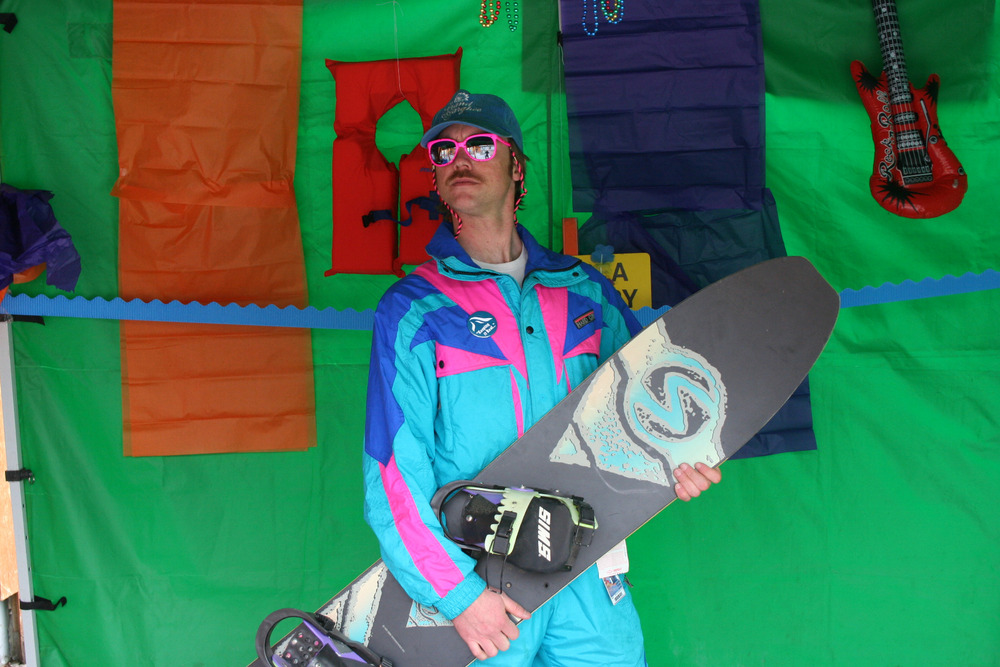 Neon and air bands reign during 80s weekend Spring Breakaway at Grand Targhee Resort. Photo courtesy of Grand Targhee Resort.