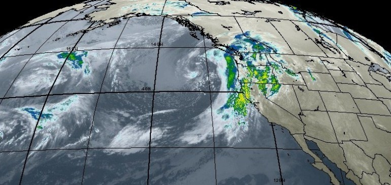 Pacific Storm Approaches the West Coast.