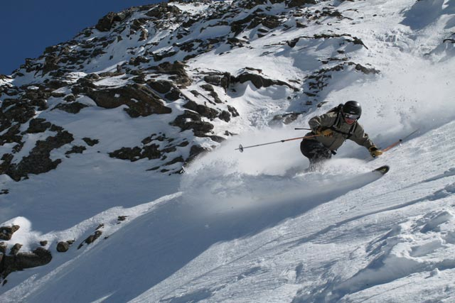 Skiing the upper mountain at Moonlight.Photo courtesy of Moonlight Basin.