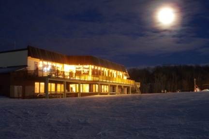 Blackjack baselodge at night. - ©Blackjack Ski Resort