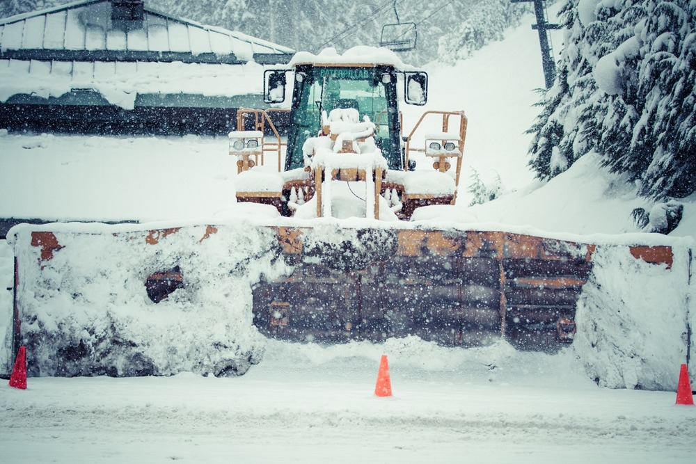 This is how they plow the snow up at Mt. Baker.